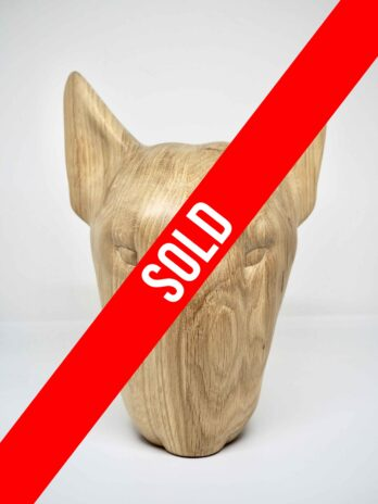 Wooden Bull Terrier Oak